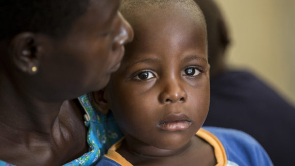 Raphael age 2 from Uganda, who suffers from cataracts.