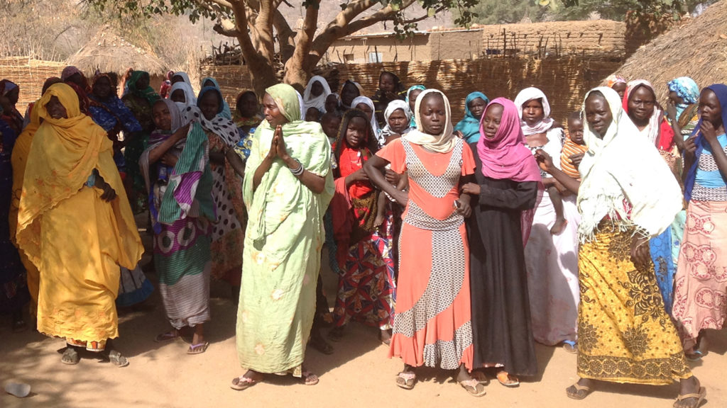 Alcune donne nel loro villaggio nel sud del Chad.