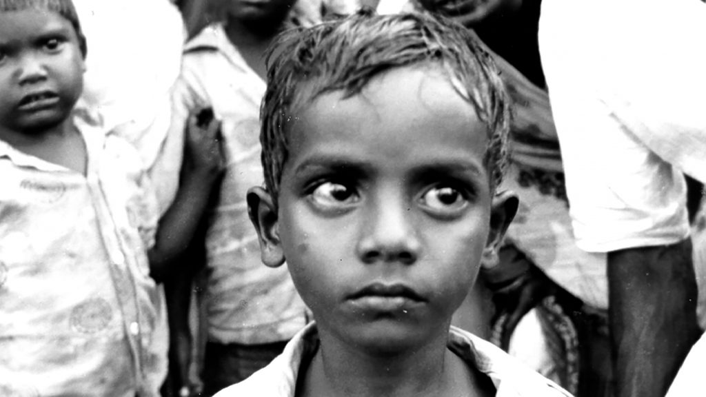A young boy in India in the 1940s.
