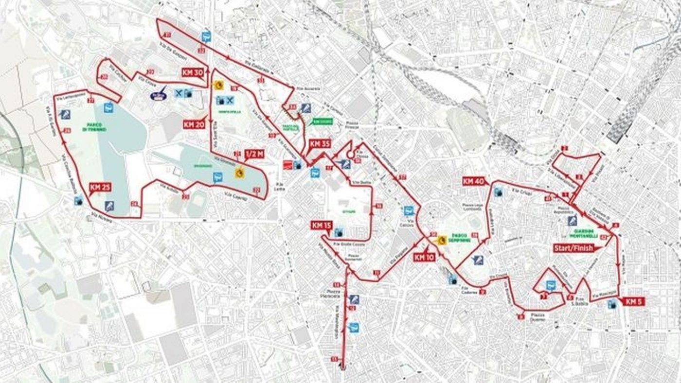 Mappa del percorso della maratona