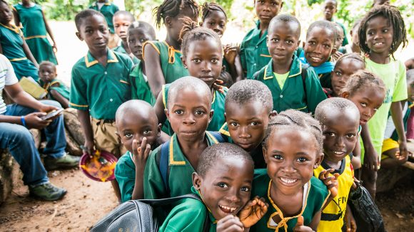 Students from Gbendembu School in Sierra Leone.