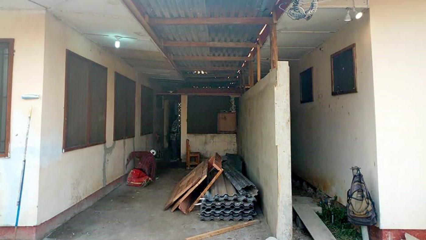 Una stanza delle clinica in ristrutturazione