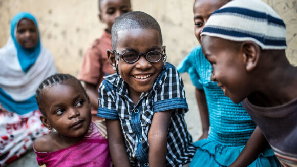 saidi smiles with his friends